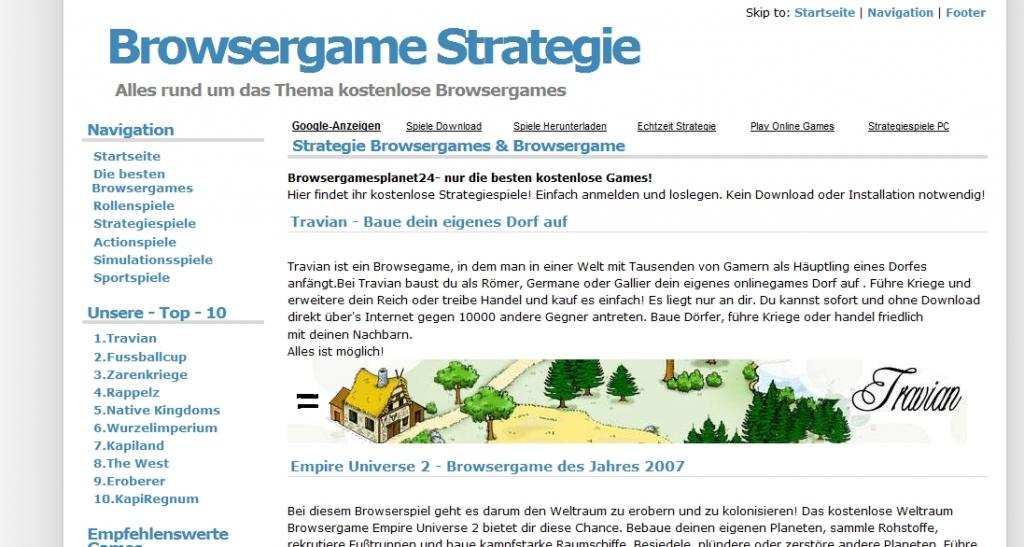 Foto 3 Browsergame Strategie