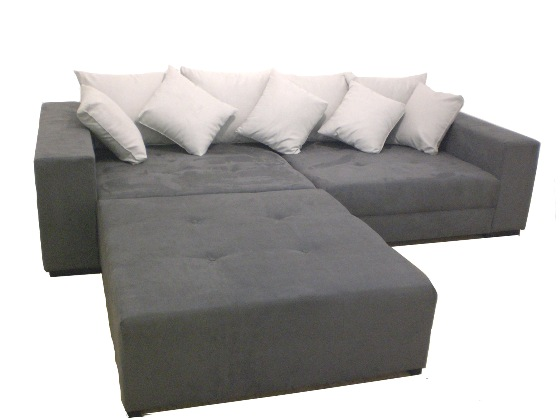 big sofa xxl inkl hocker megasofa grau. Black Bedroom Furniture Sets. Home Design Ideas