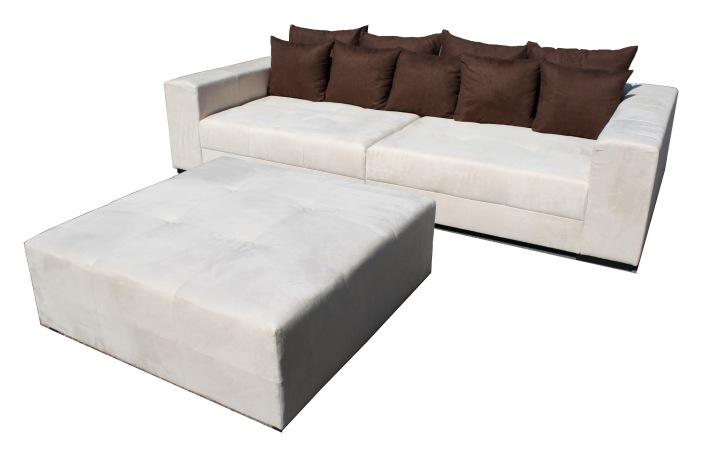 Big Sofa Xxl Inkl Hocker Megasofa Grau
