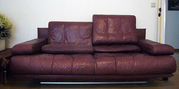 rolf benz sofa rb 6500 aubergine leder. Black Bedroom Furniture Sets. Home Design Ideas