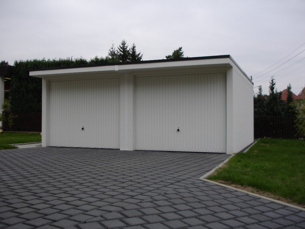 betongarage doppelgarage mit vordach fertiggaragen preis