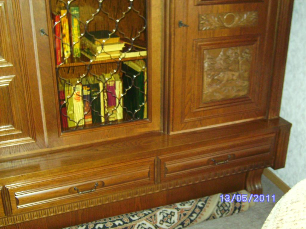 Wohnzimmerschrank Eiche-massiv auch für Jagdzimmer zu ...