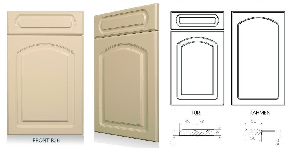 Küchenfronten tauschen, Küchentüren austauschen, Möbelfronten erneuern