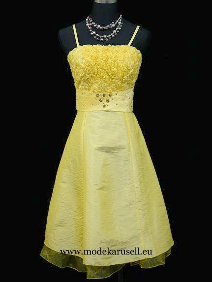 Abendkleider Cocktailkleider Kurz in Gelb von modekarusell