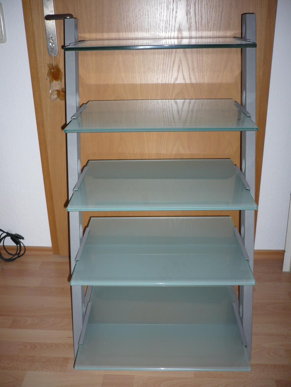 schroers schroers hifi rack lambda silber mattglas. Black Bedroom Furniture Sets. Home Design Ideas
