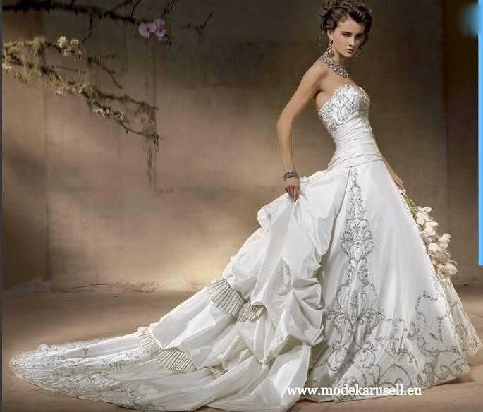 Traum Hochzeitskleid Brautkleid 2013 mit Schleppe von modekarusell Gr ...