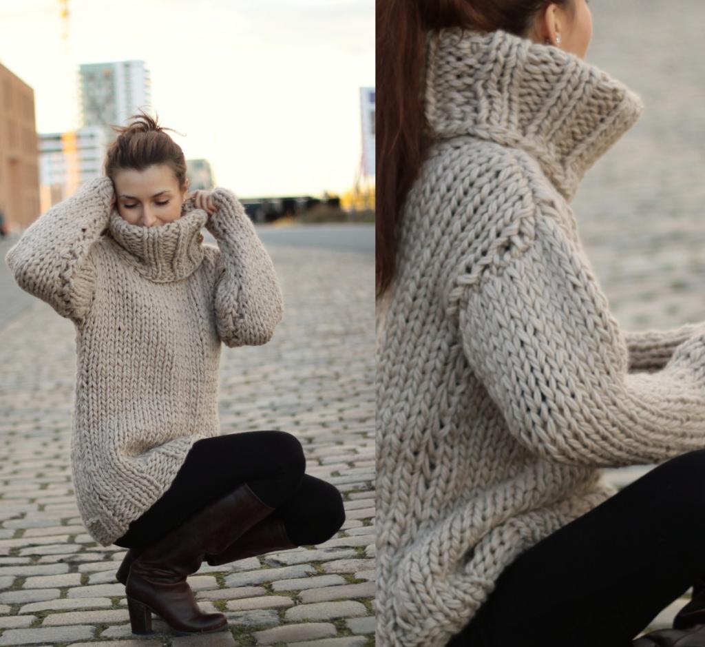 new styles fa860 60165 Dicker riesen ♥Zopf♥Rollkragen Grobstrick♥Pullover♥thick ...