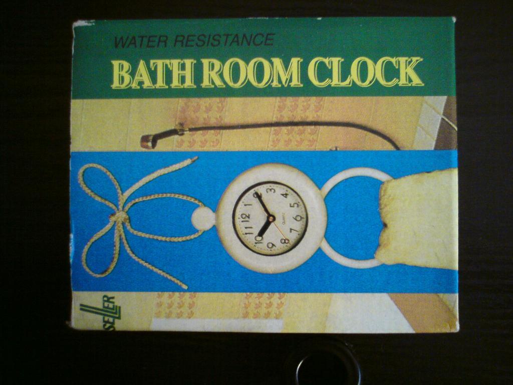 Bad Room Clock Badezimmeruhr Mit Handtuchhalter In Meißen (analog