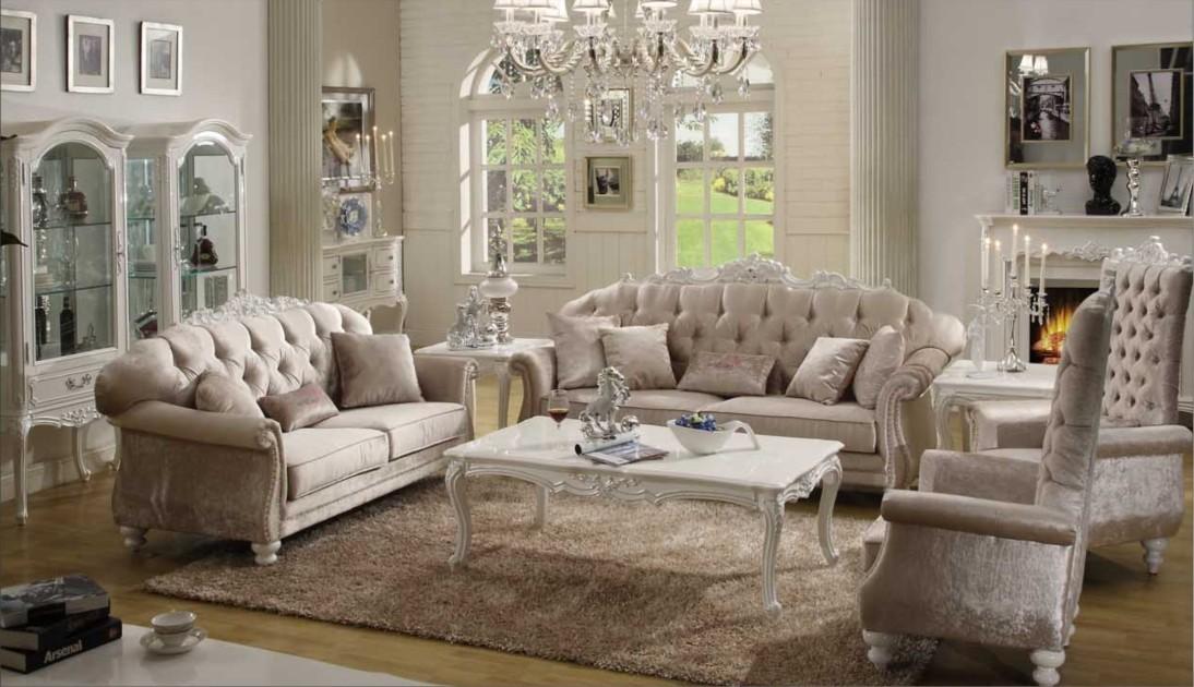 Wohnzimmer Barock Mobel Couch Eckcouch Vitrine Schrank Florenzia