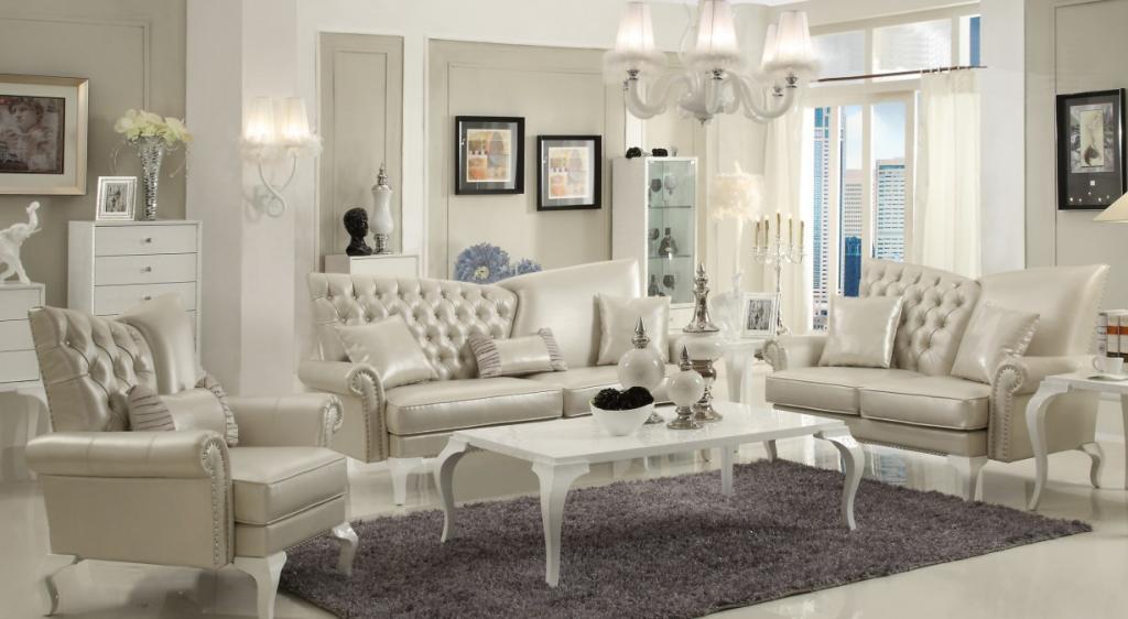 Wohnzimmer Couch Set Barock Klassik Leder Venezia Von Nobelli