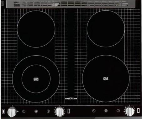 oranier gas unter glas einbau kochfeld f r erdgas. Black Bedroom Furniture Sets. Home Design Ideas