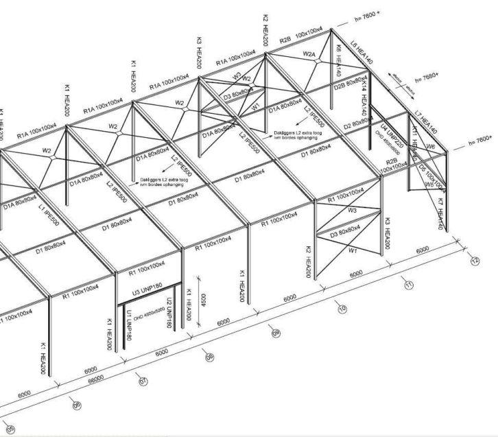 Stahlkonstruktion stahlhalle produktionshalle gebrauchte for Stahlbau aussteifung