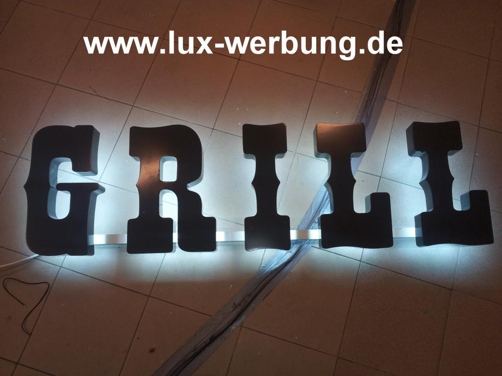 ab 59 eur 3d led leuchtbuchstaben leuchtschilder leuchtreklame au enwerbung f r laden restaurant. Black Bedroom Furniture Sets. Home Design Ideas